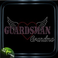 Guard grandma rhinestone hotfix motif design