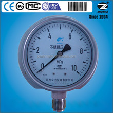 100mm/4'' panel mounting all stainless steel wika type pressure gauge