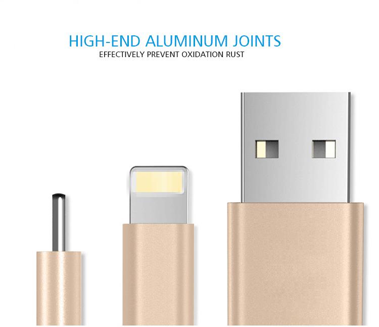 Best Selling 8 Pin Cabo de Dados USB Barato 2 em 1 Trançado Cabo do Carregador de Sincronização para o Telefone Móvel Universal