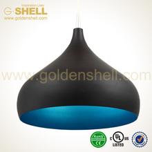 Hot selling aluminum black shell chandelier pendant lamp