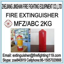 The most reliable and honest manufacture with good price for small 2kg ABC dry powder portable fire extinguisher