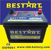 BCI standard 50ah 12V dry cell car battery 500cca 58500-MF