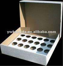 Standard 24 pcs white paper cupcake box, custom design cupcake boxes,cheap price 24 cupcake box