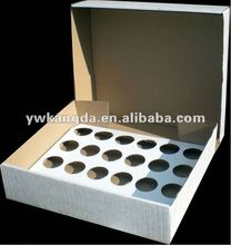 Standard 24 white paper cupcake box, 2015 customized logo print corrugated paper box, cheap price 24 cupcake box