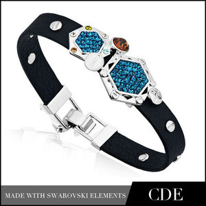 cadeau en cristal cristal valentine cadeaux du jour de gros bracelets en cuir avec de la pierre pour les amoureux