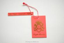 Haute qualité prix de l'habillement tag étiquette pour bébé