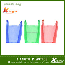 hdpe vest carrier shopping bags with different colors