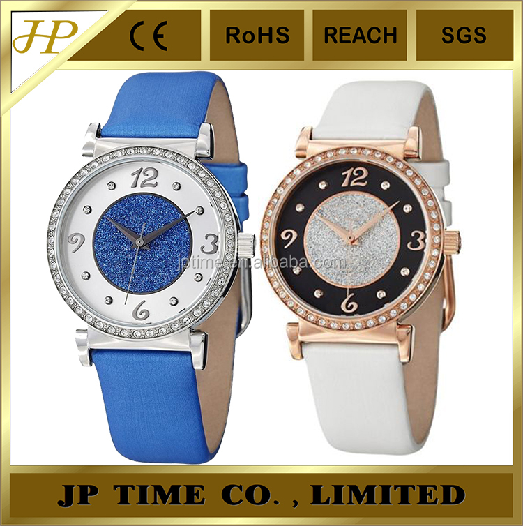 new coming decent fashion taste accented leather strap shiny dial vogue Watch 2015