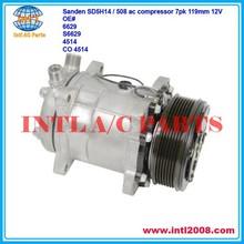 Sanden SD5H14 / SD508 / 5H14 / 508 ac compressor 7pk 12v sanden 4514 4535 4645 4665 6614 6629 6669 7832 S6629