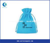 custom printed velvet cotton bag drawstring