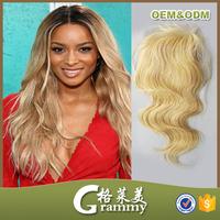 virgin brazilian and peruvian hair blonde hair closure piece