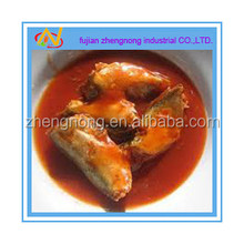 nutritious 425g canned mackerel fish in tomato sauce(ZNMT0020)