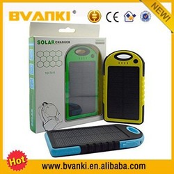 2015 christmas new hot items for portable solar power bank solar panel 5000mah solar power bank,waterproof power bank