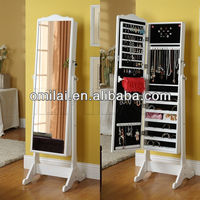 French style mirror jewelry display cabinet arabic living room furniture