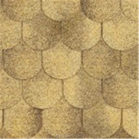 New Decorative Yellow Asphalt Shingle for Round House Roof