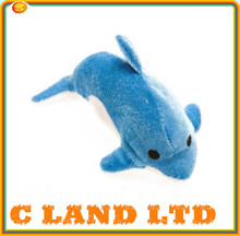 14cm Promotional toys stuffed sea animal plush dolphin wholesale with prnted logo