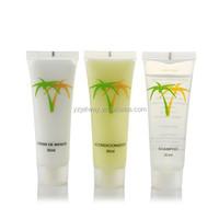 Mini 20ml hotel shampoo in tube with lemon fragrance