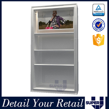 panel stand shoes display wall panel glass wall display case