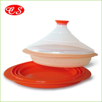 High Standard FDA LFGB double layers silicone vegetable steamer with lid