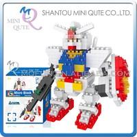Mini Qute DIY super hero robot boys Diamond nano plastic cube building blocks bricks cartoon models educational toy NO.BY 8304