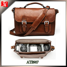 Wholesale online-shopping Vintage Fashion Leather dslr Camera Bag