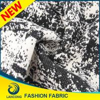 Shaoxing supplier Garment use High Quality jacquard jersey knit fabric for boys sweater design