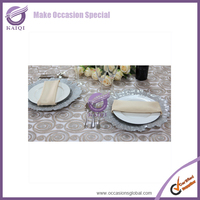 #17954 hand embroidery designs tablecloth/net 3D embroidery tablecloth
