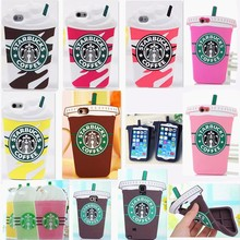 3D starbucks coffee cup silicone case for iphone 6 starbuck TPU case for 6 plus 5S