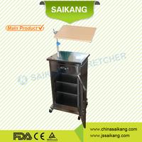 SKS057 Stainless Steel hospital medical bedside locker nightstand