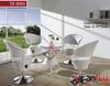 aluminum garden furniture elegant design rattan dining chairs
