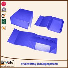 2015 Caja de plegable de cartón con diferente color personalizado