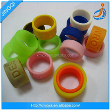 Cheap promotion custom fashion silicone thumb ring
