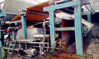 High capacity facial tissue paper making machine
