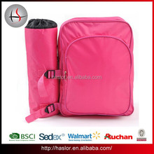 600D Polyester Travel Picnic Outdoor Kids Cooler Backpack with Bottle Bag Lunch Bag for Children