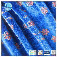 100% Polyester Pigment Printed Velour Velvet Material for Anti-Static, Blackout
