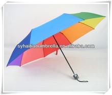 21''*8k de colores del arco iris hermoso 3 delux veces paraguas