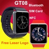 Bluetooth support sim card with NFC watch pocket mobile phone