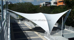 Customized large PVDF best-selling aluminum carport parking roof for airports