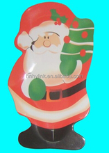 30.2*18.5cm christmas Santa Claus melamine serving tray with full printing (ITEM NO. CSD1007)