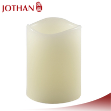 3 pieces Ivory colour small tea with Display Box led candle