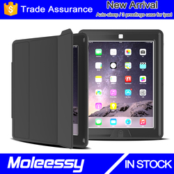 The latest unique wallet leather case for ipad 2 for ipad 3 for ipad 4 smart shockproof case