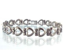 2012 new fashion power titanium bracelet with silicone