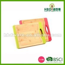 High quality bamboo cutting board,cutting board with silicone,wood cutting board wholesale