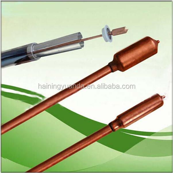 Solar water heater parts copper heat pipe solar vacuum for Copper pipe heater
