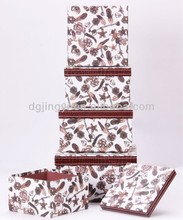 Luxury paper printing/storage box/clothing packaging box in Dongguan China