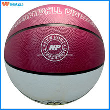 Winsell official customized printed rubber basketball