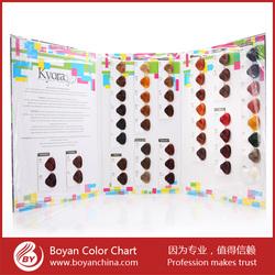 Hair Color Chart/hair Colour Swatch book/hair color Shades