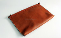 high quality soft leather brown color laptop sleeve neoprene cover for macbook air A1369 spare parts
