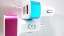 NEW Rapid Portable 3 USB Ports 5.1A(2.1A 2A 1A) Car Charger Adaptor