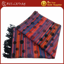 2015 fashion multicolor jacquard knitting pattern scarf